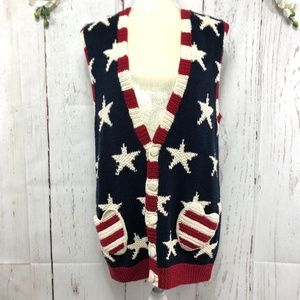 MARISA CHRISTINA VEST KNITTED BY HAND SIZE S